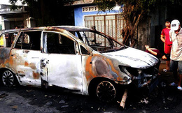 Vận động 9 đối tượng hỗn chiến, đốt xe ô tô ra đầu thú