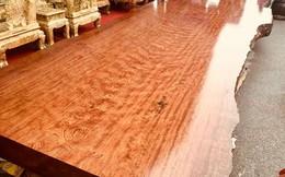 Sập gỗ nu cẩm lai giá 3 tỉ đồng ở Hà Nội