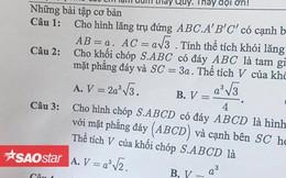 Khi thầy giáo 'có tâm' ra đề kiểm tra: Nắn nót ghi hẳn dòng chữ 'nhờ các em làm bài, thầy đội ơn'
