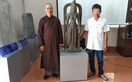Tượng nữ thần SARASWATI vớt trên sông lần đầu thấy ở Việt Nam