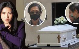 Lễ hoả táng của Lam Khiết Anh: Chị gái trùm kín mặt xuất hiện tiều tụy, người thân khóc nức nở