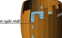 Nguyên lý thùng gỗ: Thùng muốn chứa nhiều nước thì phải thay thanh gỗ ngắn, người muốn bảo vệ bản thân, phải tự tìm điểm yếu của mình