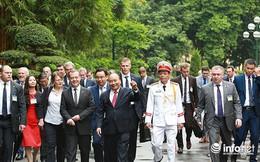 Toàn cảnh lễ đón chính thức Thủ tướng Nga Medvedev thăm Việt Nam