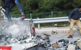Xe cháy rụi khi đang di chuyển trên cao tốc vì hành vi nguy hiểm này của tài xế