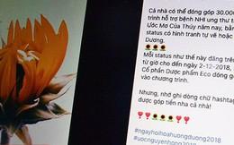 Bao nhiêu 'bông hoa hướng dương' đã được chia sẻ trên Facebook trong những ngày qua?
