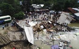 Sạt lở ở bờ sông Long Xuyên, nhiều nhà dân bị cuốn trôi
