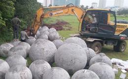 Clip chôn 40 quả bóng xích ở sân vận động Mỹ Đình gây xôn xao và sự thật phía sau