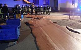 Đức: Cả tấn chocolate tràn ra đường sau khi nhà máy sản xuất bị vỡ bể chứa