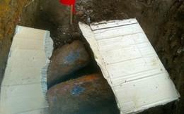 Phát hiện hầm đạn pháo khi đào đường dẫn dây điện
