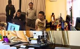 Phát hiện 22 người Trung Quốc thuê khách sạn, biệt thự hoạt động phạm tội công nghệ cao