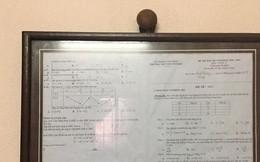"""Lần đầu được 5.2 điểm thi môn Toán, nữ sinh đóng khung treo lên tường để ghi nhận """"chiến công hiển hách"""""""