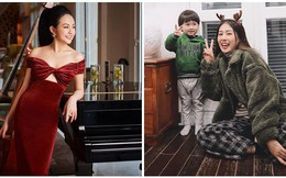 Hội hot mom thi nhau khoe ảnh Giáng sinh: Người kiêu hãnh diện váy đỏ rực, người viên mãn trong biệt thự triệu đô