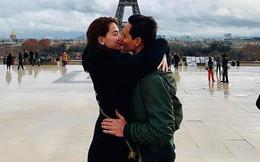 """Kim Lý đăng ảnh hôn môi thân mật dưới tháp Eiffel, cư dân mạng bình luận: """"Không giống Hồ Ngọc Hà"""""""