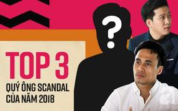 """3 sao nam đoạt Cúp """"Quý ông Scandal"""" của năm 2018: Trường Giang, Phạm Anh Khoa vẫn thua xa người đàn ông này"""