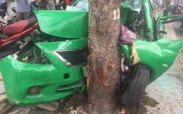 Taxi Mai Linh tông vào gốc cây, tài xế cùng khách nhập viện