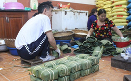 Làng bánh chưng nổi tiếng nhất Hải Phòng tất bật ngày giáp Tết
