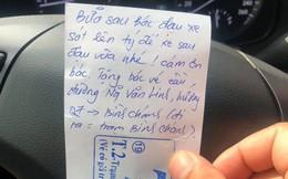 Đỗ xe kém duyên, người đàn ông tủm tỉm khi 'được' hàng xóm cảnh cáo bằng 1 tờ giấy