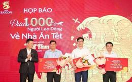 Bia Sài Gòn thuê 4 chuyên cơ đưa 1.000 người lao động về nhà ăn Tết