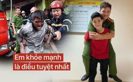 """2 bố con nam sinh Hà Nội mang """"quà cảm ơn"""" lớn nhất tặng chiến sỹ PCCC đã cứu mạng mình"""