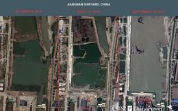 Ảnh vệ tinh tiết lộ xưởng đóng tàu sân bay Trung Quốc