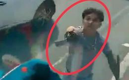 Truy tìm đôi nam nữ đi ô tô biển Hà Nội cầm kiếm chém nát kính ô tô tải trên Quốc lộ 13