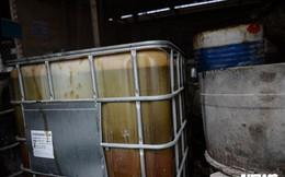 Cận cảnh nơi lưu giữ dầu thải trước khi bị tuồn ra 'đầu độc' nước sông Đà