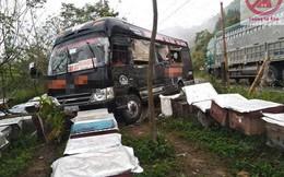Xe khách gặp tai nạn lao thẳng vào khu nuôi ong khiến hành khách bị đốt túi bụi