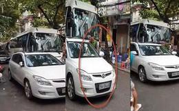 Trung úy công an đỗ xe ngang ngược giữa phố cổ Hà Nội: Phạt 1 triệu đồng