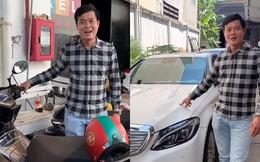 Phó GĐ Điền Quân phải đi xe máy cũ, thủng yên, trái ngược khó tin với Trấn Thành, Ngô Kiến Huy