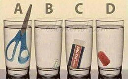 Thách thức 3 giây: Chiếc cốc nào nhiều nước nhất?