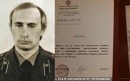 Nga giải mật bản đánh giá của KGB về ông Putin thời trai trẻ: Một điệp viên mẫu mực của Liên Xô!