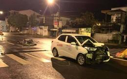 Trung úy công an tử vong sau khi va chạm với xe ô tô