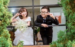 Cô gái 1,2m chụp ảnh cưới với thầy giáo tí hon từng trúng tiếng sét ái tình qua tivi
