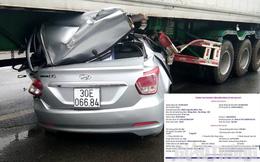 Ai là chủ xe biển số Hà Nội chui gầm container, hai người đàn ông tử vong?