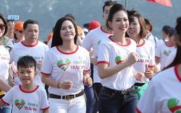 Ca sĩ Lương Nguyệt Anh và MC Mỹ Vân tham gia chạy bộ vì trẻ em bị bệnh tim