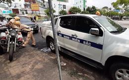"""Bắt giữ xe gắn bảng hiệu """"An ninh miền Bắc"""", có đèn ưu tiên vì vi phạm luật giao thông"""