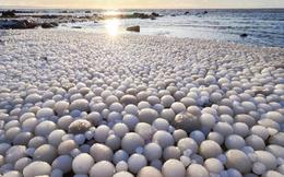 """Giải mã bí ẩn: Lý giải hiện tượng hiếm gặp hàng ngàn """"quả trứng băng"""" nằm trên bờ biển"""