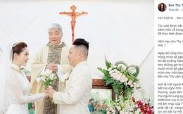 """Chia sẻ đầu tiên của Bảo Thy sau đám cưới, xúc động nói về khoảnh khắc tại Nhà Thờ: """"Đời người có thể tan hợp và kết hôn nhiều lần..."""""""