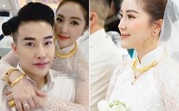 Bảo Thy đeo nhiều vàng, nhẫn kim cương lớn trong ngày trở thành vợ đại gia giàu có