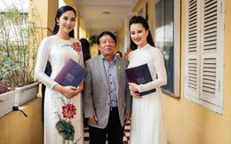 BTV Huyền Châu, hoa hậu Ngọc Hân về thăm trường cũ