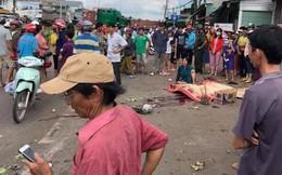 Thùng container tuột khỏi rơ-moóc, văng vào nhà dân khiến 1 người chết thương tâm