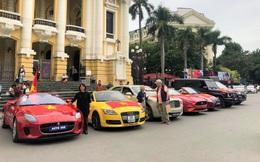 """Dàn xe sang 50 tỷ đồng """"lên đồ"""" cổ vũ trận Việt Nam đấu Thái Lan gây bão"""