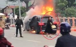 Tạm giữ hình sự nữ tài xế điều khiển xe Mercedes gây tai nạn ở gầm cầu vượt Lê Văn Lương