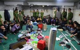 52 con bạc say sưa sát phạt nhau dưới hầm kiên cố ở Vĩnh Phúc