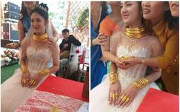"""Danh tính cô dâu Cao Bằng đeo vàng """"nặng trĩu cổ"""" khiến dân mạng xôn xao"""