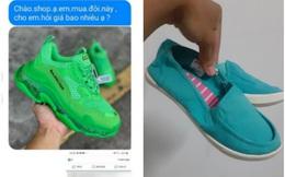 """Chàng trai """"khóc thét"""" khi đặt mua giày thể thao, nhận về đôi búp bê, dân mạng chỉ ra điểm đáng ngờ"""
