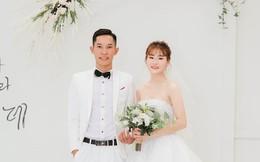 Bức ảnh cưới nhìn qua thì thấy bình thường nhưng soi kỹ thấy khuôn mặt cô dâu có vấn đề