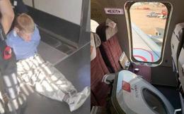 Máy bay sắp cất cánh, người đàn ông đột nhiên 'phát điên' đập phá cửa thoát hiểm gây náo loạn