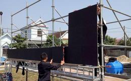 Lắp hàng loạt màn hình cỡ lớn ở Nghệ An và Hà Tĩnh để cổ vũ U22 Việt Nam