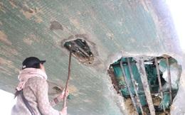 """Cận cảnh lớp xốp """"khổng lồ"""" trong bê tông cây cầu hơn 7 tỷ đồng tại Hà Tĩnh"""